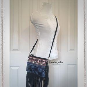 Rebecca Minkoff Crossbody Bag Fringe Pompom NWT